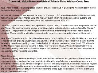 Corcentric Helps Make-A-Wish Mid-Atlantic Make Wishes