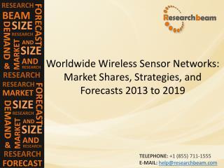 Wireless Sensor Networks: Market Shares 2013-2019
