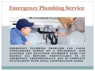 Emergency Plumbing Service in Canoga Park