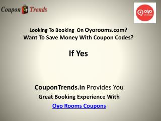 OyoRooms Coupons