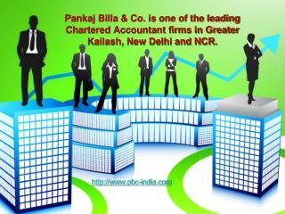 Pankaj Billa & Co. is one of the leading Chartered Accountan