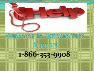 |1-866-353-9908| Quicken technical Assistance