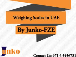 Facts about weighing scales