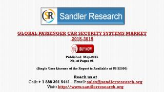 Passenger Car Security Systems Market 2019 – Key Vendors Res
