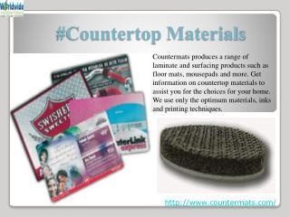 #Countertop materials