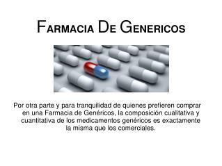 Farmacia de gen�ricos