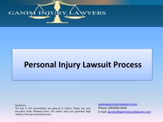 Personal Injury Lawsuit Process