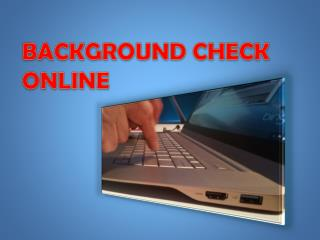 Background Check Online
