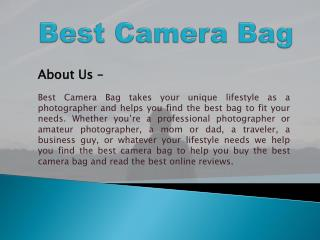 Best Reviews For Digital Camera Bags