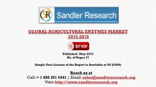 Agricultural Enzyme Market 2019 � Key Vendors Research and A