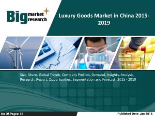 Luxury Goods Market in China 2019