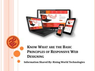Some Basic Principles of Responsive Web Design