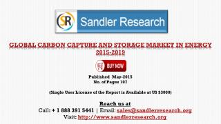 Carbon Capture and Storage Market in Energy 2019 – Key Vendo