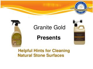 Helpful Hints for Cleaning Natural Stone Surfaces