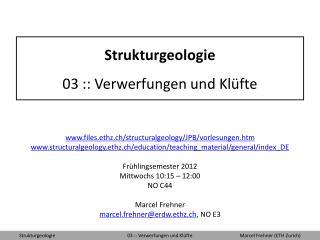 Strukturgeologie 03 :: Verwerfungen und Kl fte