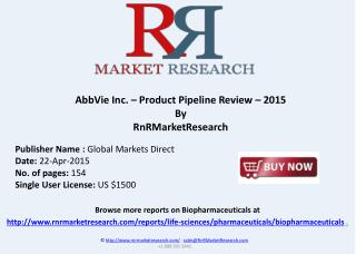 AbbVie Inc. Product Pipeline Report and Market Analysis 2015
