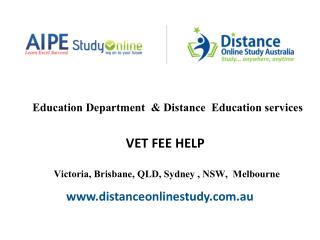 Distance Education Victoria Sydney Melbourne Brisbane QLD