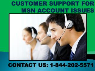 1-844-202-5571||How to Reset, Recover MSN Password?