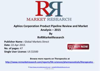 Aphios Corporation Product Pipeline Market Review – 2015