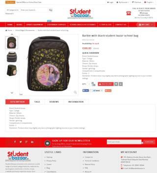 Barbie with Black school bag | Student Bazaar