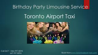 Birthday Party Limousine Service