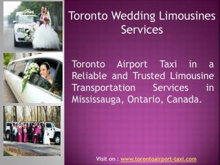 Wedding limousines service