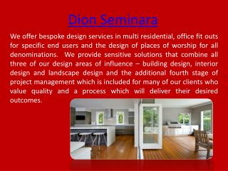 Dion Seminara Architect in Morningside