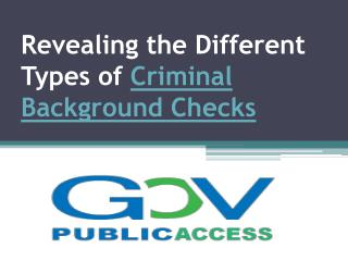 Revealing the Different Types of Criminal Background Checks