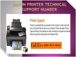 Canon printer Helpline Toll Free Number 1-800-824-4013