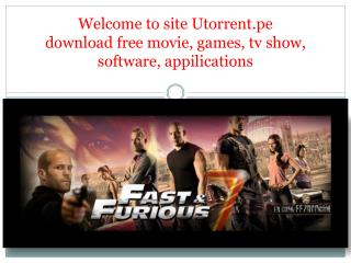 Free Download movies with utorrent.pe