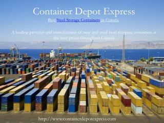 Steel Shipping Containers and Steel Sea containers for sale