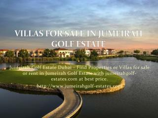 Villas for Sale in Jumeirah Golf Estate