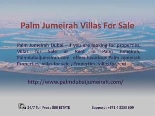 Palm Jumeirah Villas for Sale