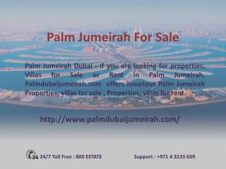 Palm Jumeirah Properties for Sale