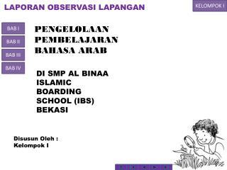 KURNALI LAPORAN OBSERVASI LAPANGAN PELATIHAN GURU B. ARAB