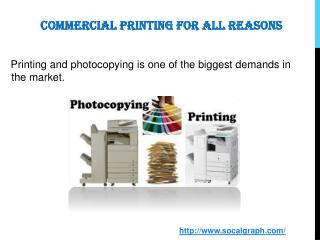 Commercial Printing for All Reasons