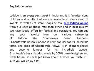 Buy laddoo online