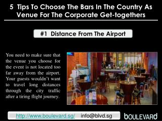 5 tips to choose the bars in the country as venue for the co