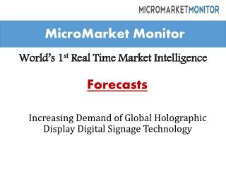 Global Holographic Display Digital Signage Market