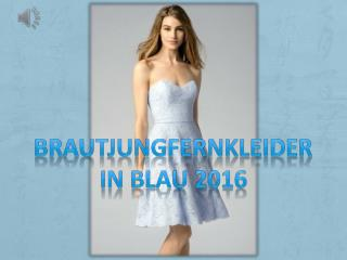 Schöne Blaue Brautjungfernkleider Online Günstig Kaufen