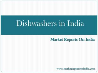 Dishwashers in India