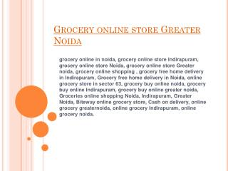grocery online store greater noida