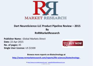 Dart NeuroScience LLC Product Pipeline Review – 2015