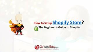 The Beginner�s Guide to Shopify setup