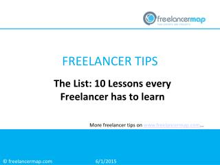 The List: 10 Lessons every freelancer has to learn