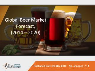 Global Beer Market Forecast, 2014 - 2020