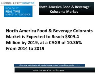 North America Food & Beverage Colorants Market