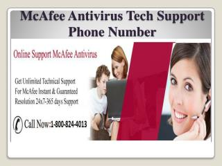 McAfee Antivirus Tech Support Phone Number 1-800-824-4013