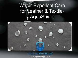 Water Repellent Care for Leather & Textile- AquaShield