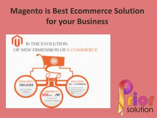 Magento is Best Ecommerce Solution for your Business
